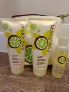 New Rare Mary Kay Coconut Lime Gift Set Lotion Shower Gel Body Mist RARE