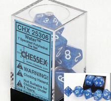 Chessex Speckled Polyhedral dice set Water numbers 7 dice set for RPG