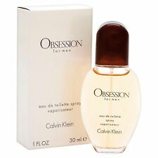 Obsession by Calvin Klei  For Men edt 1.0 oz/30 ml Spray  New In Box