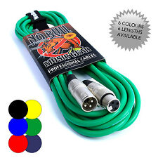No Bull Male to Female XLR Green Cable - 6m