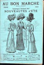 ▬►CATALOGUE AU BON MARCHÉ de 1910 MODE FASHION FEMMES ENFANTS HOMMES CORSETS