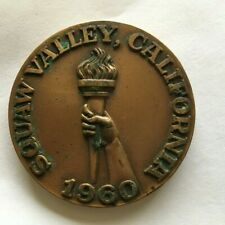 SQUAW VALLEY 1960 OLYMPICS PARTICIPATION MEDAL FAIR CONDITION