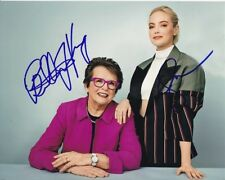 BILLIE JEAN KING & EMMA STONE signed autographed BATTLE OF THE SEXES photo