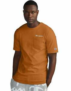 Champion Life Mens T-Shirt Pocket Tee Script Logo Short Sleeve Athletic Fit