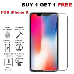 100% Genuine 9H Tempered Glass Protector Case Clear Screen Guard Apple iPhone XR