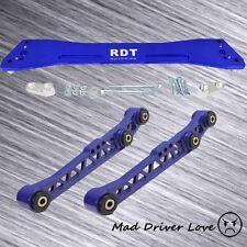 92-95 HONDA CIVIC EG ALUMINUM REAR LOWER CONTROL ARM + SUBFRAME BRACE BLUE