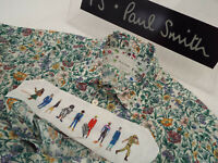 """PAUL SMITH Mens MAINLINE Shirt 🌍 Size S (CHEST 38"""") 🌎RRP £195+📮 FLORAL STYLE"""