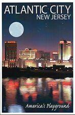 Atlantic City New Jersey, Skyline, Casinos, Trump Plaza etc NJ - Modern Postcard