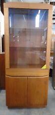 SKOVBY Danish Teak Display Glass Door Unit Cabinet - R34