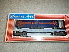 AMERICAN FLYER/LIONEL S SCALE #9000 B&O TOFCEE SERVICE PIGGYBACK FLAT