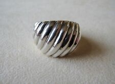 Sterling Silver Dome Ribbed Ring 9.3 Grams Size 8