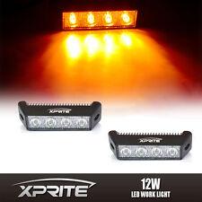 2x 2W Amber 4 LED Spot Fog Daytime Running Light Eagle Eye Strip DRL 5.5 Inch