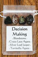Decision Making Crystal Set Bloodstone Crazy Lace Turritella Agate Silver Jasper