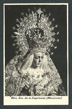 Foto antigua Virgen Macarena andachtsbild santino holy card santini
