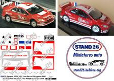 Decals Peugeot 307cc WRC Loeb ROC 2004 version toit blanc additif Altaya 1/43e
