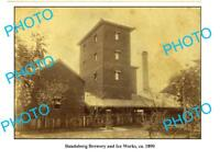 OLD LARGE PHOTO BUNDABERG BREWERY ICE WORKS c1890 QLD