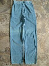 Vtg Foxmoor Corduroy Pants 11 25x31 Blue Tapered Leg High Waist Hipster Cotton