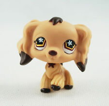 LPS #575 Littlest Pet Shop Brown Dipped Ears Cocker Spaniel Dog Hasbro