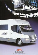 Prospekt 1 Bl. Laika Ecovip H 600 Reisemobil 2003 integriert Wohnmobil motorhome