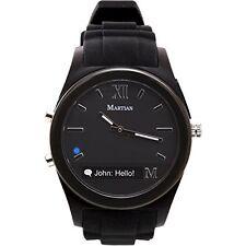 Smart Watch Martian Notifier Mens Womens Smartwatch Android iOS Brand New Black