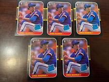 1987 Donruss Greg Maddux Lot Of 5 Rookie RC Cubs #36