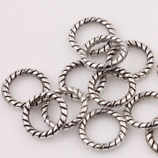 Lots Antique Tibetan Silver Circle Spacer Loose Beads Ring Jewelry Finding 8mm