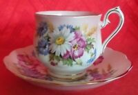 VINTAGE ROYAL ALBERT GLAMIS BONE CHINA ENGLAND TEA CUP & SAUCER