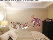 ROALD DAHL FANTASTIC MR FOX WALL ART VINYL 100cm x 60cm