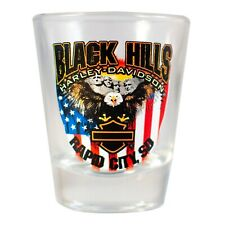 Black Hills Harley-Davidson Patrotic Eagle Short Shot Glass