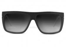 NEW Electric Black Top Sunglasses-Black Gloss-Grey Gradient Lens-SAME DAY SHIP!