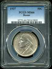 1937 50C Boone Commemorative Half Dollar MS66 PCGS 38163809