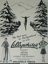 Lillywhites Womens Skiing Winter Sports Clothing 1929 Advertisement Ad 7495