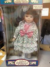 """Soft Expressions """"Country Classics"""" Porcelain Doll-New In Box-jw"""