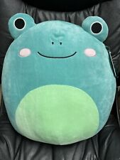 """🐸 NWT Squishmallow 🐸 16"""" Ludwig the Blue Frog 🐸 Books a Million BAM Exclusive"""
