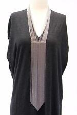 NWT$3245 Brunello Cucinelli Shiny Monili Fringe Beaded Long Necklace W/925S A176
