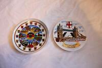 Souvenir City of London Tower Bridge  and Deutschland-Germany Collectors Plates