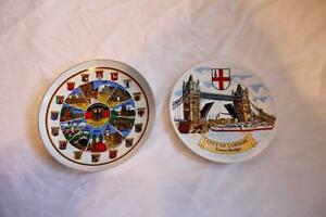Souvenir City of London Tower Bridge  and Deutschland-Germany Collectors Plates