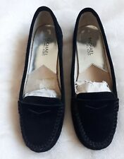 Immaculate Michael Kors Black Suede Moccasin Shoes, Size 8M (UK 5) Worn Twice!