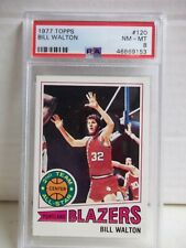 1977 Topps Bill Walton PSA NM-MT 8 Card #120 NBA HOF Portland Trail Blazers