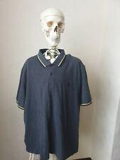 Fred Perry Polo Shirt Grey XXL Yellow Trim