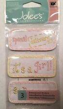 """Jolee's Baby Collection """"Girl Quilts"""" Dimensional Stickers"""
