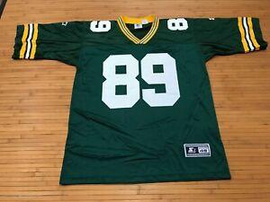 MENS LARGE - Vtg 1995 NFL Green Bay Packers #89 Chmura Starter Print Jersey