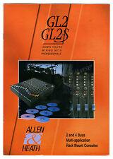 ALLEN & HEATH - GL2 - GL2-S CATALOGO ORIGINAL  (  ORIGINAL CATALOG )