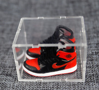 3D Mini NIKE AJ1 Collection OG Bred KeyChain With Display Box,Shoe Box,Paper Bag