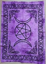 Triple Moon TIE DYE Hippie Wall Hanging TAPESTRY Goddess Celtic Poster Decorate