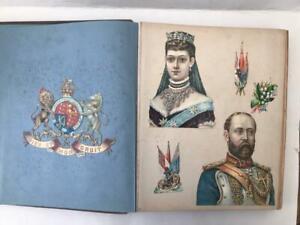 Lovely 1800s/1900s Victorian Scrap Album Royal Album Military Interest