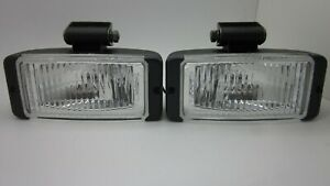 FORD XE FALCON S PACK RECTANGLE FOG LIGHT NEW REPRO Pair With COVERS