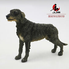 JJM Irish Wolfhound Dog Pet Figure Canidae Animal Collector Toy Car Decoration