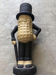 Vintage Reproduction Cast Iron Planters Mr. Peanut Coin Bank
