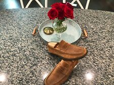 Bruno Magli Brown Suede Slip On Shoes Rare Penny Loafers 10 F